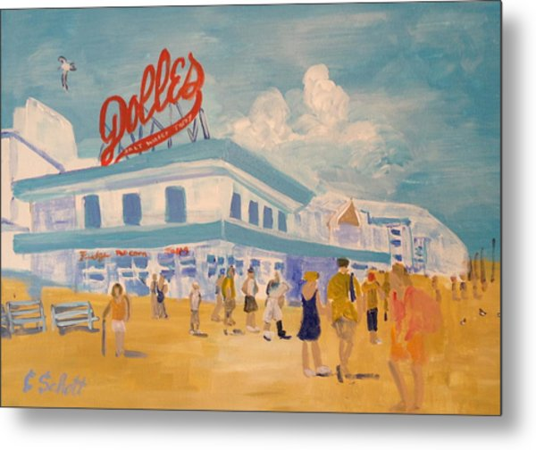 Dolles Salt Water Taffy Metal Print