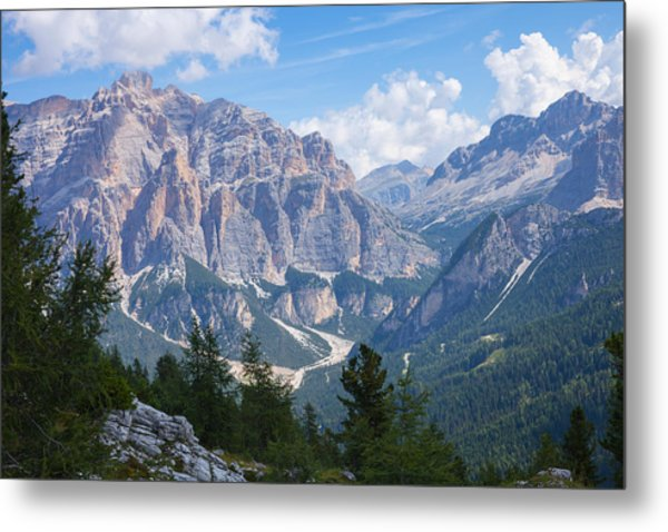 Dolomite Mountain View Metal Print