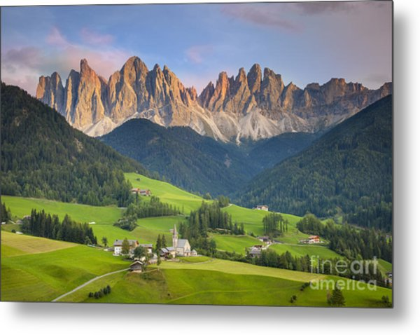 Metal Print featuring the photograph Dolomites From Val Di Funes by Brian Jannsen