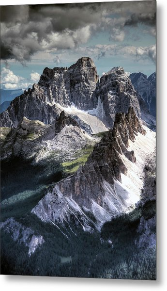Dolomites Peaks View From Lagazuoi Metal Print by Mariusz Kluzniak