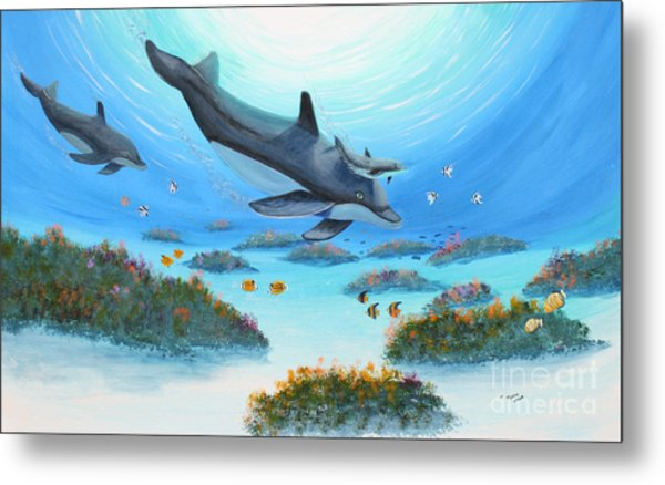 Dolphen Moves Metal Print