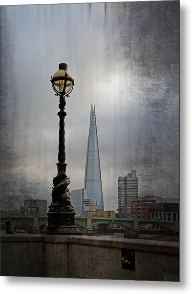 Dolphin Lamp Posts London Metal Print