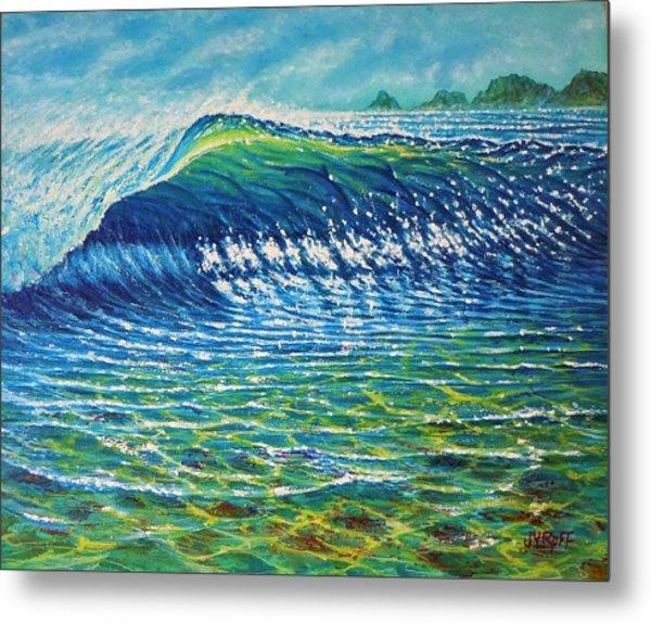 Dolphin Surf Metal Print by Joseph   Ruff