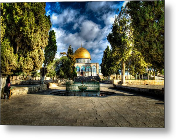 Dome Of The Rock Hdr Metal Print