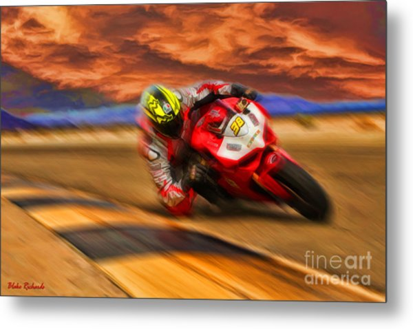 Domenic Caluori At Speed Metal Print