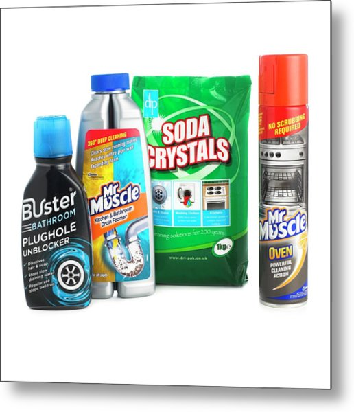 Domestic Cleaning Products Metal Print