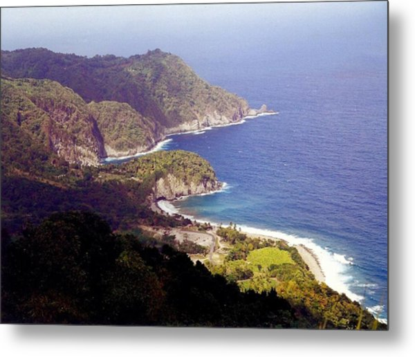 Dominica Coast Line Metal Print