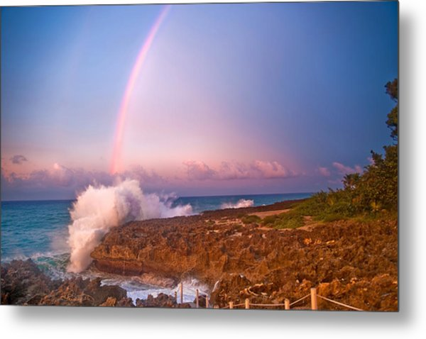 Dominican Rainbow Metal Print