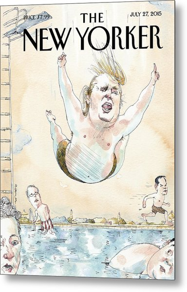 Belly Flop Metal Print