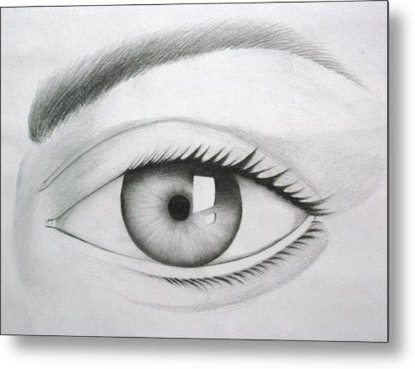 Donate Your Eyes Metal Print by Tanmay Singh