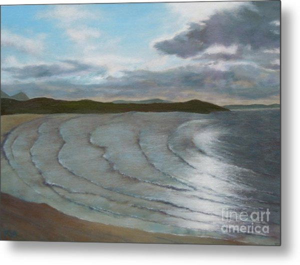 Donegal's Shimmering Sea Metal Print
