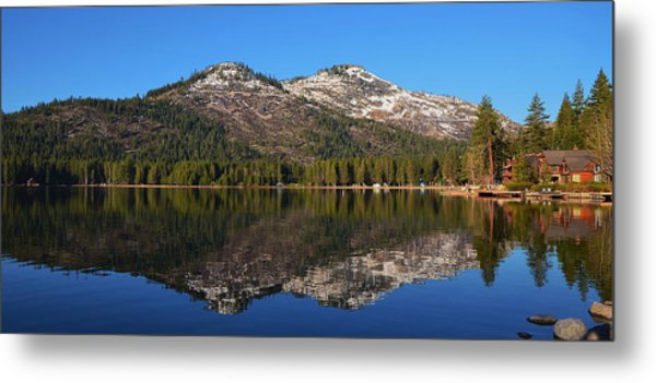 Donner Lake Reflection Metal Print