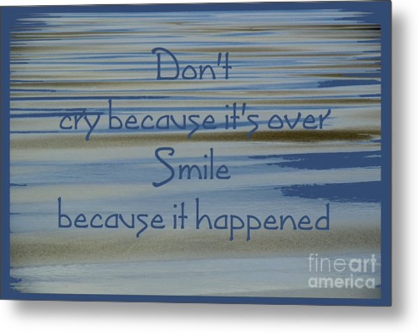 Don't Cry.....1 Metal Print