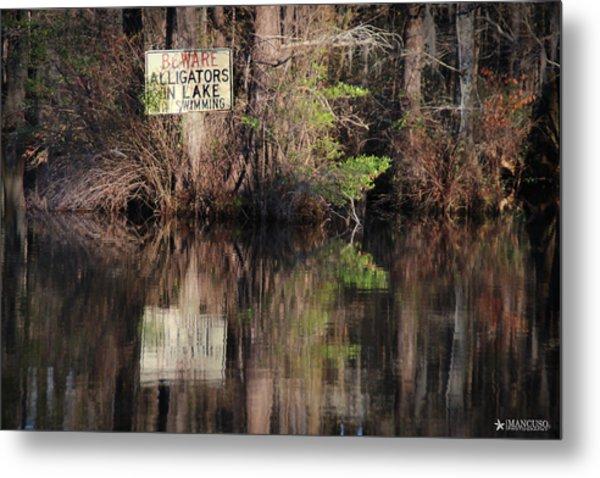 Don't Feed The Alligators Metal Print