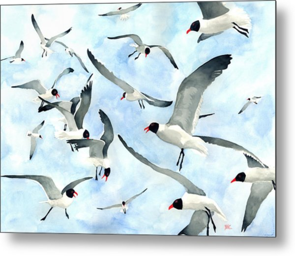 Don't Feed The Seagulls Metal Print