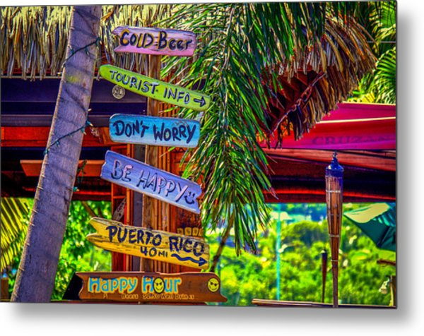 Don't Worry..be Happy Metal Print by Denise Darby