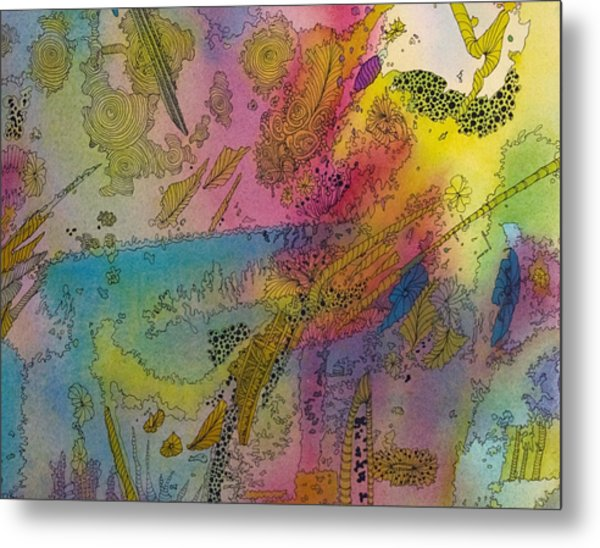 Doodle With Color Metal Print