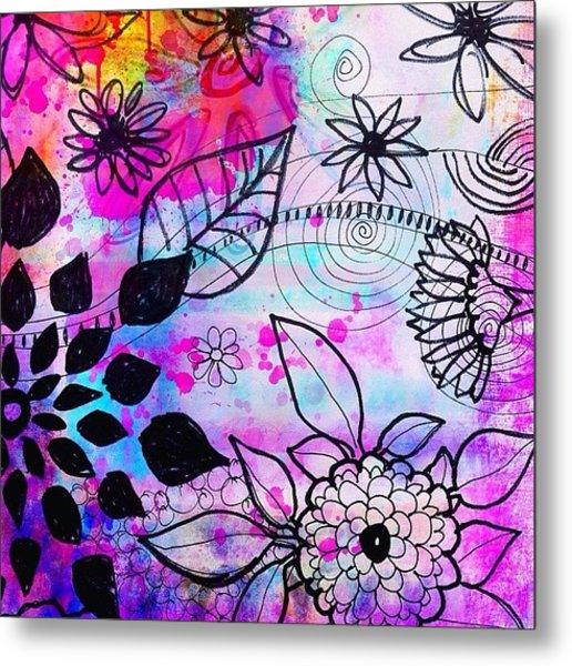 #doodles And #color #ipad #digital Metal Print