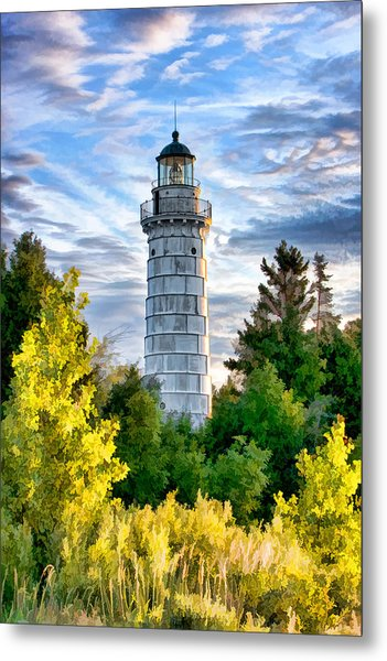 Door County Cana Island Beacon Metal Print