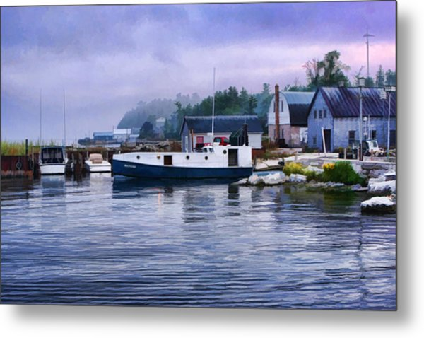 Door County Gills Rock Fishing Village Metal Print