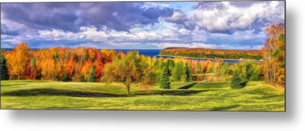 Door County Grand View Scenic Overlook Panorama Metal Print