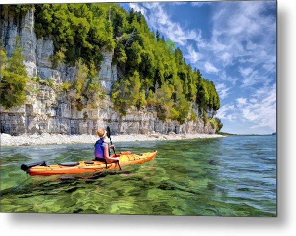 Door County Kayaking Around Rock Island State Park Metal Print
