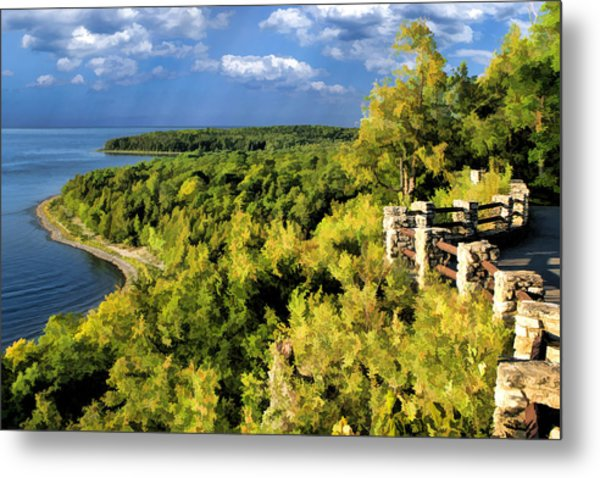 Door County Peninsula State Park Svens Bluff Overlook Metal Print