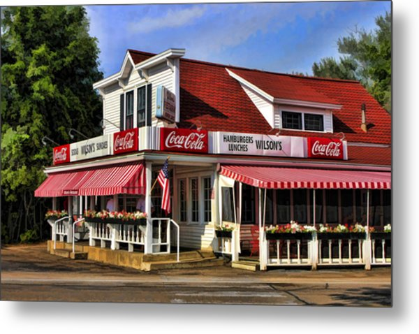 Door County Wilson's Ice Cream Store Metal Print