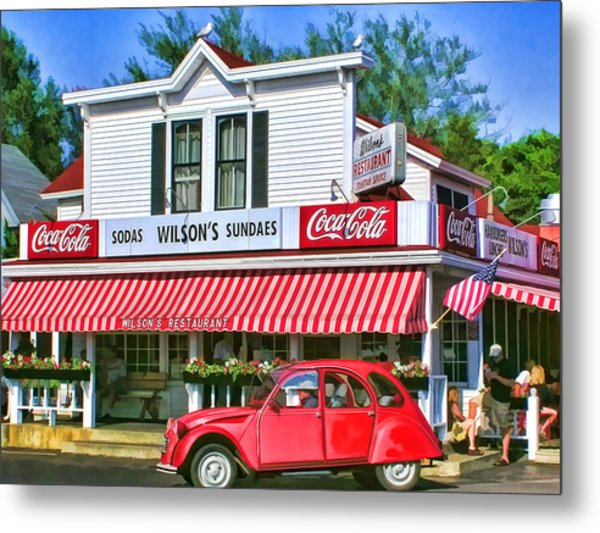 Door County Wilson's Restaurant And Ice Cream Parlor Metal Print
