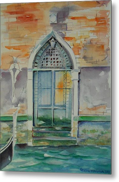 Door In Venice-italy Metal Print