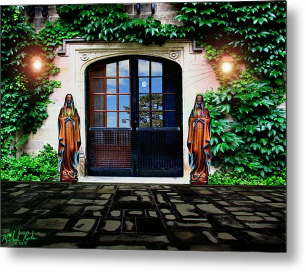 Doors Of Ivy Metal Print