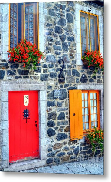 Doors Of Quebec 2 Metal Print