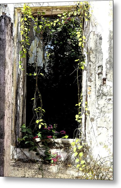 Doorway Delights Metal Print