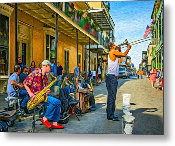 Doreen's Jazz New Orleans - Paint Metal Print