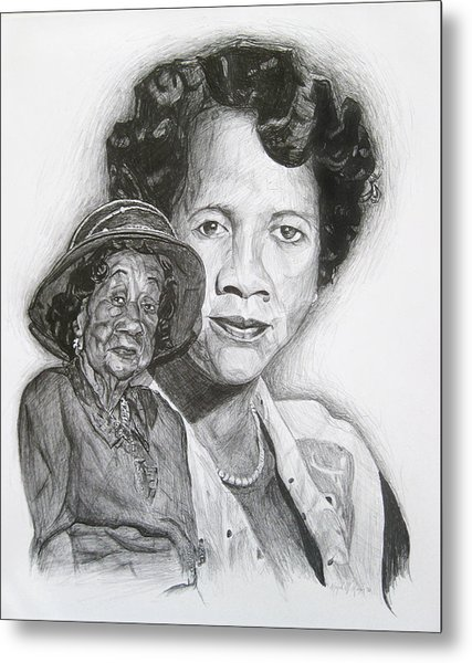 Dorothy Height - Double Portrait Metal Print