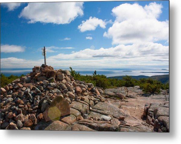 Dorr Mountain Summit - Acadia Metal Print