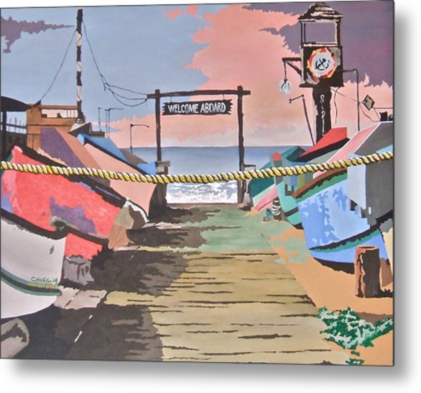 Dory Fishing Fleet -newport Beach Metal Print