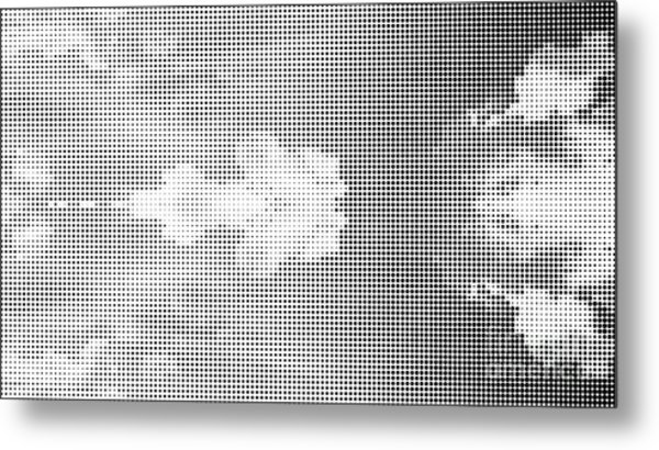 Dotted Background Texture Halftone Dots Metal Print