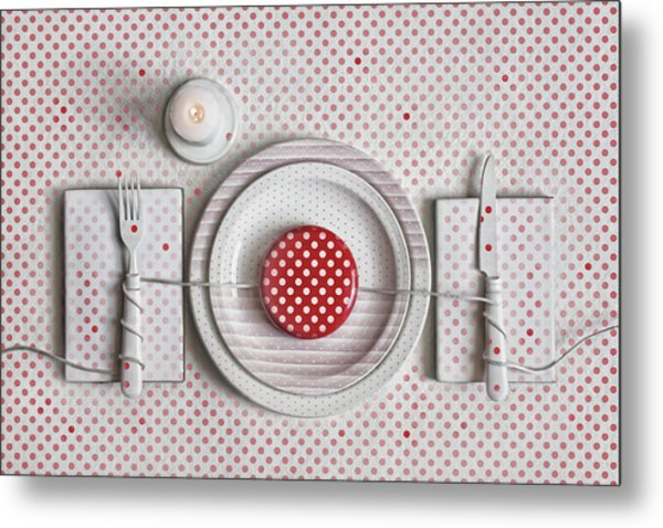 Dotted Dinner Metal Print by Dimitar Lazarov -