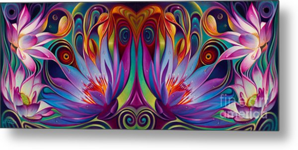 Double Floral Fantasy Metal Print