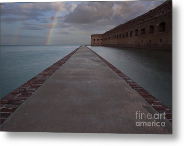 Double Rainbow Over Fort Jefferson Metal Print