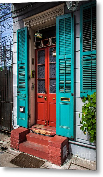 Double Red Door Metal Print