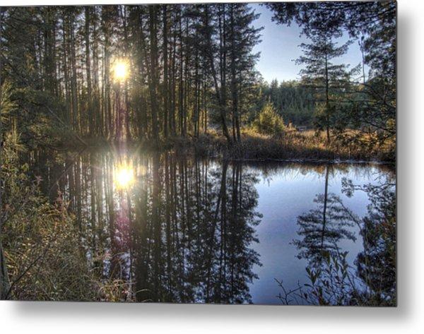 Double Sunset Batsto River Metal Print