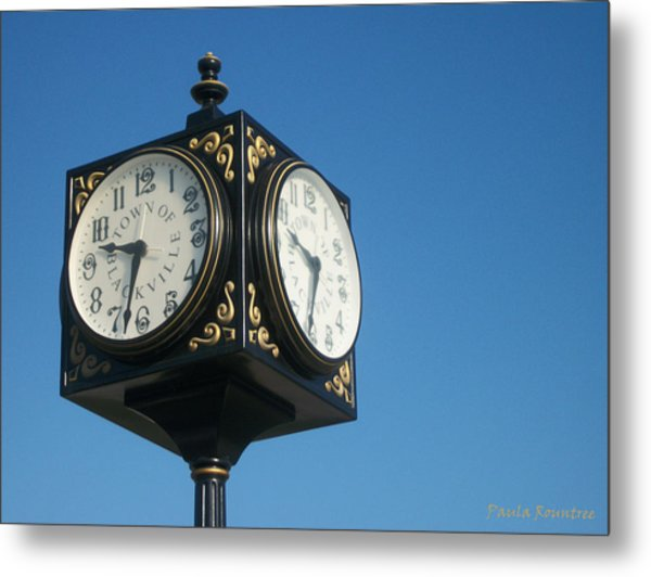 Double Time Metal Print by Paula Rountree Bischoff