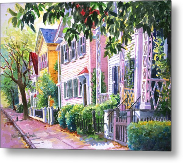 Down On Franklin Street Metal Print by Alice Grimsley