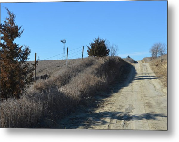 Down The Country Road Metal Print