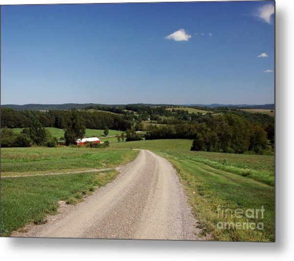 Down The Road A Bit Metal Print