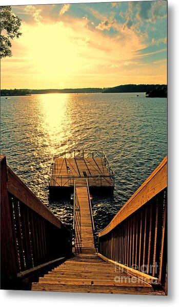 Down To The Fishing Dock - Lake Of The Ozarks Mo Metal Print