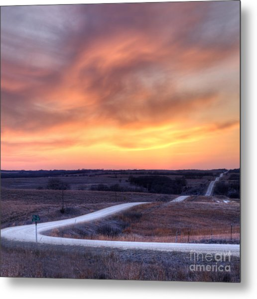 Down To The Rolling Hills Metal Print