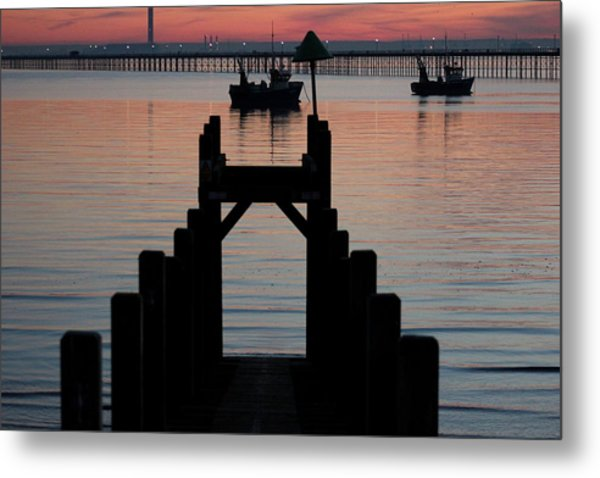 Down To The Sunset Sea Metal Print